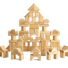 100pcs set child wooden early educational toy solid wood geometric assembling building blocks kid intellectual