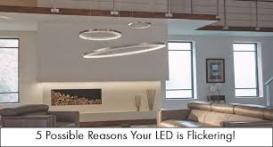 led light fixture or bulb is flickering