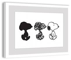 snoopy peanuts framed art print contemporary kids wall decor snoopy art prints