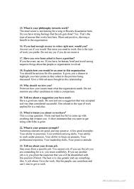 Job Interview Questions Worksheet Free Esl Printable Worksheets