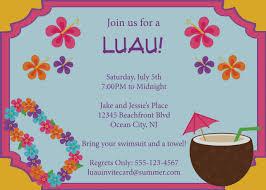 Free Customizable Invitation Templates Unique Of Luau Party Invitation Template Free Printable Summer 6