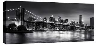 >wall art designs awesome example of nyc canvas wall art bridge new  new york nyc canvas wall art brooklyn bridge panoramic black white good looking awesome lighting giant