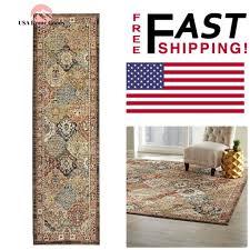 runner rug 2 ft x 7 ft patchwork medallion multi colored stain resistant carpet
