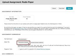 Create and Edit Assignments   Blackboard Help Blackboard  How to Submit Multi Document Assignments in Blackboard