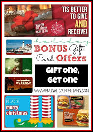 tis the season for holiday bonus gift card offers this time of year many restaurants and relers will offer bonus deals when you gift cards
