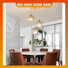 Đèn Thả Trần - Đèn Thả Bàn Ăn MINA Pha Lê Trang Trí Hiện Đại - kèm bóng LED  và đế ốp trần giá cạnh tranh