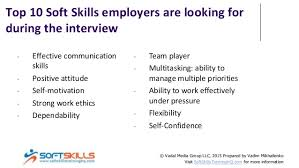 Top 10 Soft Skills Employers Are Looking For Top 10 Soft Skills For Interview Success