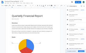 Google Docs Charts Graphs Google Docs Adds Linked Objects To Update Charts Graphs