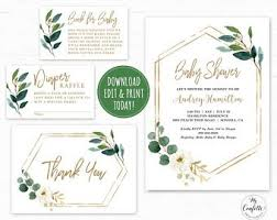 Baby Shower Invitations That Can Be Edited Printable Baby Shower Invitation Etsy