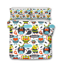 baby crib bedding sets art design kids bedding sets creatures from outer space duvet covers decorations twin size all size a super king bedding