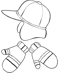 Small Picture Hat And Mittens Winter Clothes Coloring Page Boys Coloring Pages