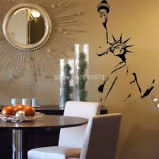 liberty bedroom wall mural: statue of liberty new york america wall art stickers decal home diy decoration wall mural removable bedroom decor wall stickers in wall stickers from home