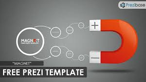 3D magnet free prezi template