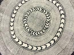 rugs marrakech round black grey white round rugs marrakech round black grey white