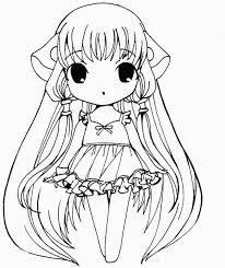 Cute Anime Coloring Pages Cool Photos Color Page Girl Anime Coloring