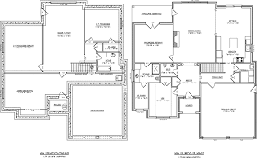 Small Picture Beautiful House Plans With Basements Basement Floor Plan Of The