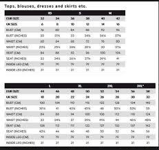 Hm Size Chart Size Chart H M Out Of Space Dan Aztec Black Dashwood Shop