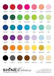 Wedding Color Chart Printed Color Chart Shine Wedding Invitations Shine