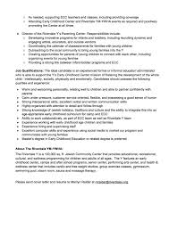 Early Childhood Teacher Cover Letter Free Cover Letter 12 Early