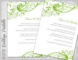 green wedding invitation blank templates ~ yaseen for Wedding Invitations M Blank wedding invitation template green diy wedding invitations Printable Wedding Invitation Templates