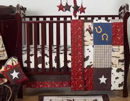 perless unique designer horse western themed cowboy baby boy crib bedding set