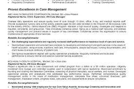 Case Manager Resume Adorable Nurse Manager Resume Cv Job Description Example Sample Nursing Of To