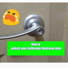 how to unlock a door without key open locked with bobby pin bedroom bathroom twist