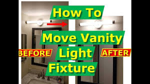 How To Center A Bathroom Light Fixture How To Move Vanity Light Outlet Fixture Junction Box Over On