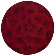 spectacular design red circle rug beautiful decoration rose tufted round rug