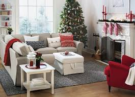 ikea sitting room furniture. Plain Sitting Red And White Christmas Living Room From Ikea With Beige Ektorp Sofa On Sitting Room Furniture E