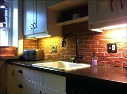 thin tile backsplash kitchen room faux brick wall kitchen red brick tiles  kitchen full size of