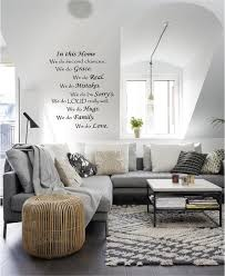 Wall Art Ideas For Living Room In This Home We Do Vinyl Decal Quote Decor  Designs.
