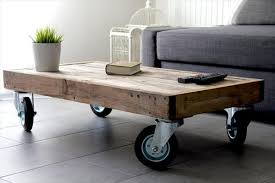 Best Coffee Table With Wheels Diy Reclaimed Pallet Coffee Table With Wheels  Pallet Furniture Plans