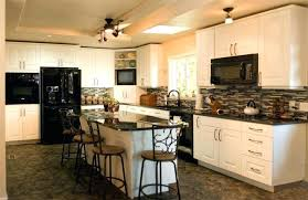 kitchens with white cabinets and black appliances. White Cabinets Black Appliances Kitchen With Stainless Steel Off Dark Kitchens And A