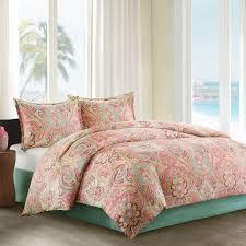 amazoncom echo guinevere comforter set queen coralmint foam