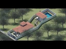 Salão de festas, playground, campinho de futebol, projeto para construção de piscina. Casa Para Terreno Em Aclive T4a 7 3m X 41 53m Construtoras De Casas