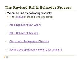 Rti Behavior Flow Chart Collecting And Using Data To Improve Rti Implementation
