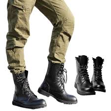 men s black army tactical leather combat military ankle boots work desert shoes