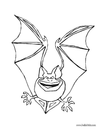 Small Picture Frightful bat coloring pages Hellokidscom