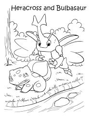 Kleurennu Pokemon Heracross En Bulbasaur Kleurplaten