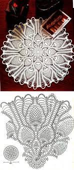 Round Pineapple Doily Diagram Crochet Doily Diagram