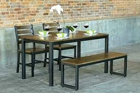 modern kitchen table with bench. Outstanding Bench Dining Table Modern Kitchen Set With Room Tables C
