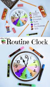 Teaching Time Management After School Routine Clock
