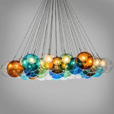 glass bubble chandelier lighting. 7 X Pendant Lights Glass Bubble Chandelier Lighting
