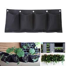 indoor vertical garden. Outdoor Indoor Vertical Gardening Hanging Wall Garden 4 Pockets Planting Bags Seedling Planter Growing
