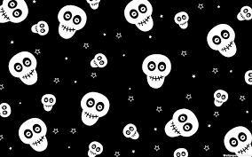 dark cute pattern wallpaper. Beautiful Dark HD Cute Skull Pattern Wallpaper Intended Dark W