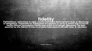 What does fidelity mean - YouTube