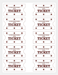 Event Ticket Template Word Event Ticket Templates For Ms Word Word Excel Templates