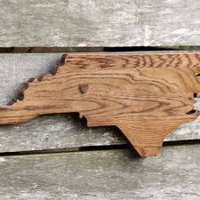 north ina state shape wood cutout wall art handcrafted in repurposed oak flooring 9x23 in