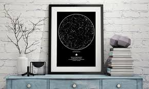 Star Chart Poster Custom Custom Poster Of The Night Sky My Sky Moment Groupon